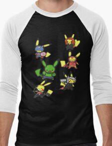 Pikachu Avengers Men's Baseball ¾ T-Shirt