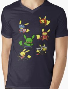 Pikachu Avengers Mens V-Neck T-Shirt