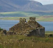 Old Home ruins on Orkney Islands Scotland by Graeme Rouillon