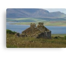 Old Home ruins on Orkney Islands Scotland Canvas Print