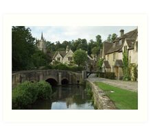The English Village of Castle Combe, England Art Print