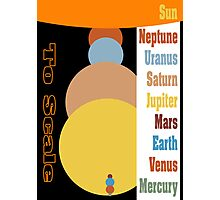 Planets - Size to Scale Photographic Print
