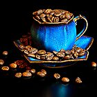 Blue coffee by Andy Burke