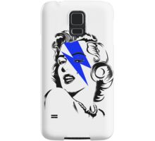 Blue flash Marilyn stardust Samsung Galaxy Case/Skin