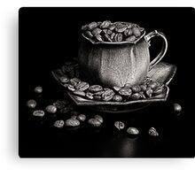 Coffee in monochrome Canvas Print