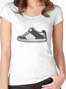 Black & White Sneaker Women's Fitted Scoop T-Shirt
