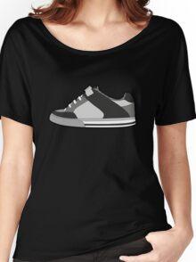 Black & White Sneaker Women's Relaxed Fit T-Shirt