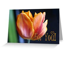 Colorful Tulip For You card Greeting Card