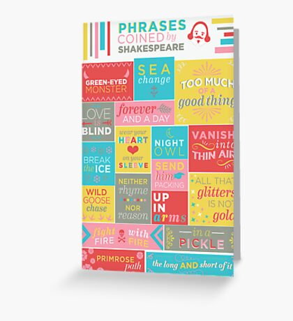 Phrases coined by Shakespeare Greeting Card