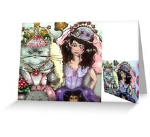 The marriage of Jasmine to Persita Cat Greeting Card