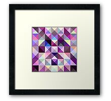 Interesting texture of colored triangles Framed Print