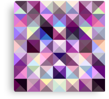Interesting texture of colored triangles Canvas Print