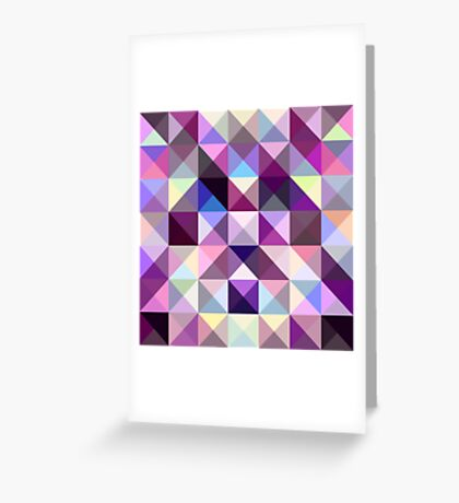 Interesting texture of colored triangles Greeting Card