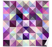 Interesting texture of colored triangles Poster