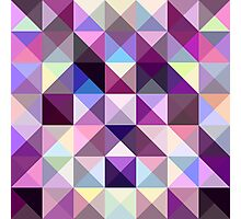 Interesting texture of colored triangles Photographic Print