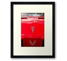 Red Firebird Framed Print