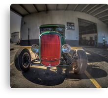 Behind the Red Grill Metal Print