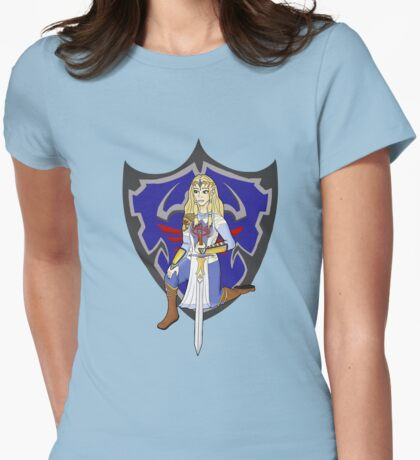 Zelda in armour Womens Fitted T-Shirt