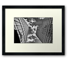 Clouds clung to the top Framed Print