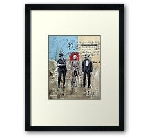 HOMBRES QUE CAMINAN DE LA MANO CON LA MUERTE (men who walk hand to hand with death) Framed Print