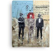 HOMBRES QUE CAMINAN DE LA MANO CON LA MUERTE (men who walk hand to hand with death) Canvas Print