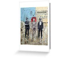 HOMBRES QUE CAMINAN DE LA MANO CON LA MUERTE (men who walk hand to hand with death) Greeting Card