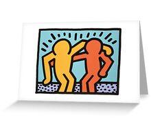 haring - best buddies Greeting Card