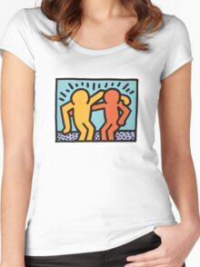 haring - best buddies Women's Fitted Scoop T-Shirt