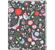 floral pattern with birds iPad Case/Skin