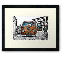 VW Split Screen Framed Print