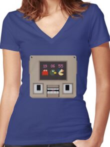 Hey! Look! A pixel! Women's Fitted V-Neck T-Shirt