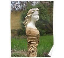 Gwen - Fabric-wrapped Garden Sculpture Poster