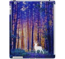 Harry's Patronus - White Stag in a Magical Forest iPad Case/Skin