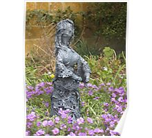 Delores - Fabric-wrapped garden sculpture Poster