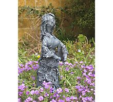 Delores - Fabric-wrapped garden sculpture Photographic Print