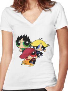 RowdyRuff Boys Women's Fitted V-Neck T-Shirt