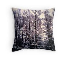 forest of frost Throw Pillow