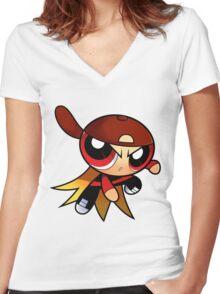 RowdyRuff Boys - Brick Women's Fitted V-Neck T-Shirt
