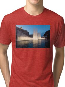 Crescendo - the Glorious Fountains at Bellagio, Las Vegas Tri-blend T-Shirt