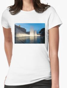 Crescendo - the Glorious Fountains at Bellagio, Las Vegas Womens Fitted T-Shirt