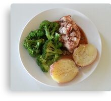 Rosemary-Garlic-Balsamic Chicken Breasts Canvas Print