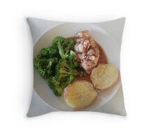 Rosemary-Garlic-Balsamic Chicken Breasts Throw Pillow