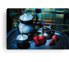 Strawberries Are Served Canvas Print