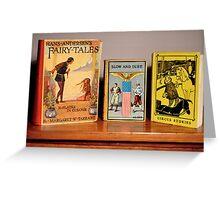 Vintage Children's Books Greeting Card