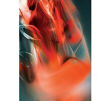 Red flow wave digital illustration Photographic Print