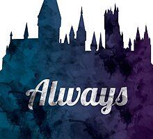 Always - Hogwarts Castle by TeeAgromenaguer