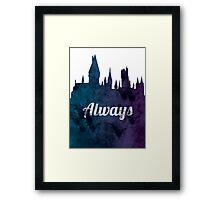 Always - Hogwarts Castle Framed Print
