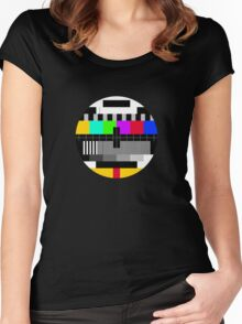 tv test Women's Fitted Scoop T-Shirt