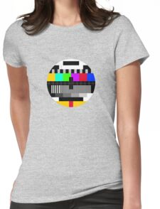 tv test Womens Fitted T-Shirt