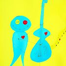 Blue Bass Blues 3 by Vonda Adomatis